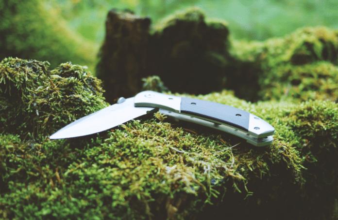 gray and black folding pocket knife