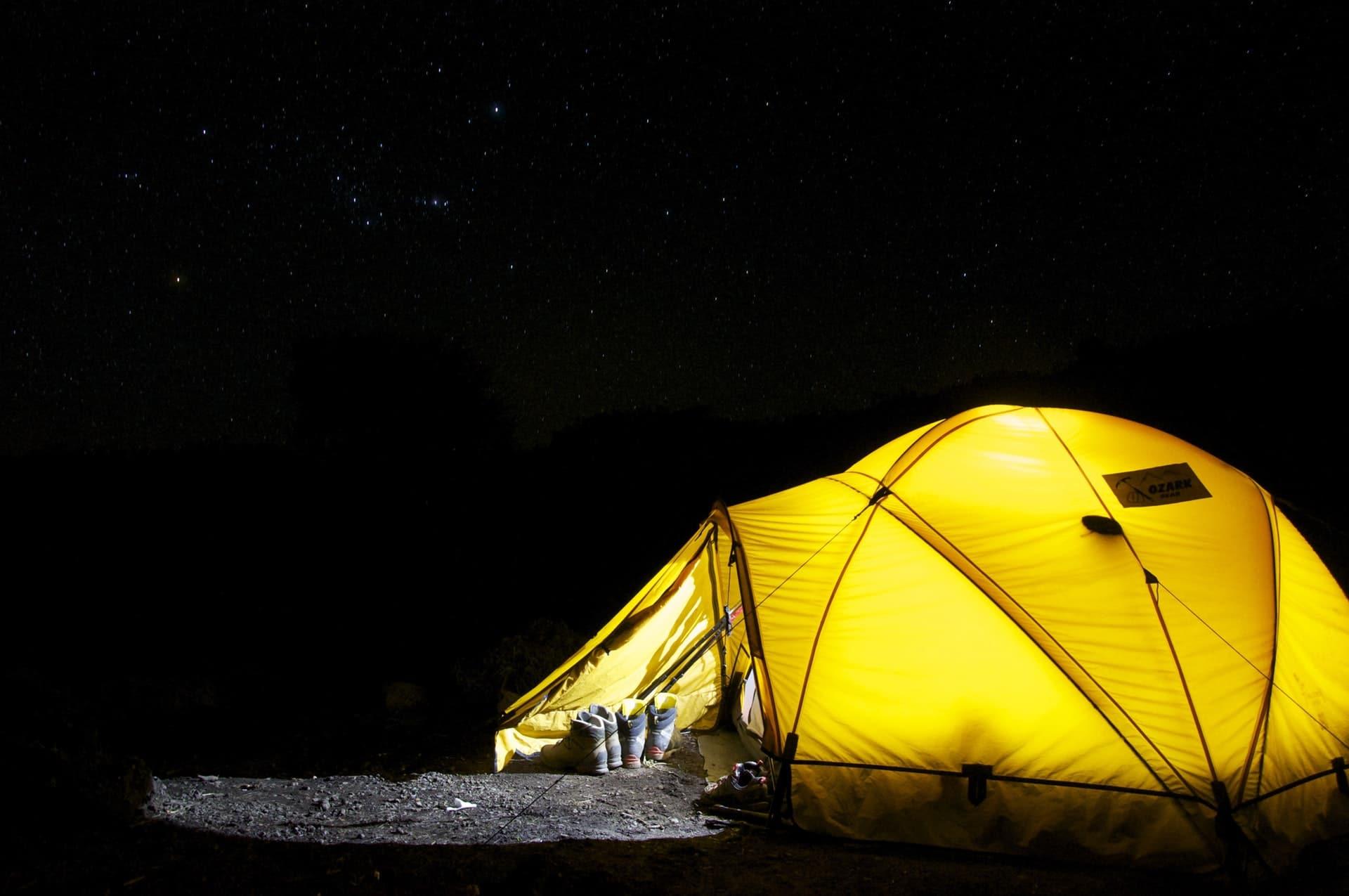 Tent Night Stars
