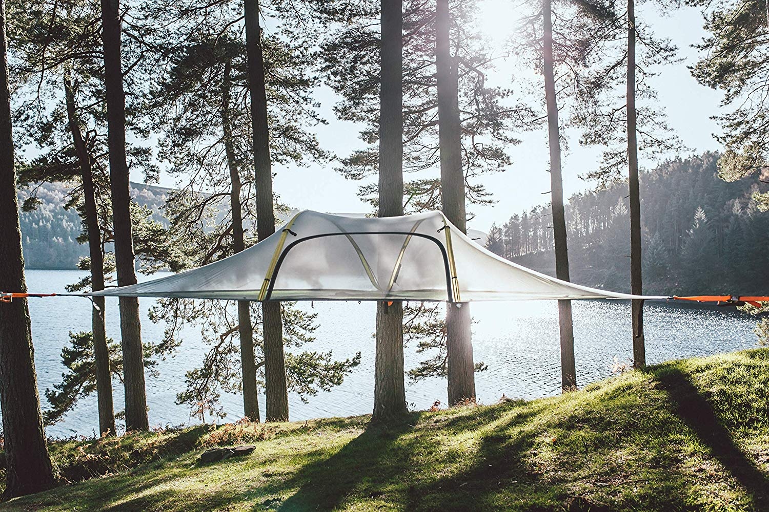 Tentsile Stingray 3-Person Tree House Tent Near the Lake